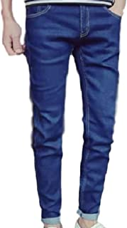 KIRITOA(キリトア) メンズ スキニー デニム アンクルパンツ 色落ち ブルー