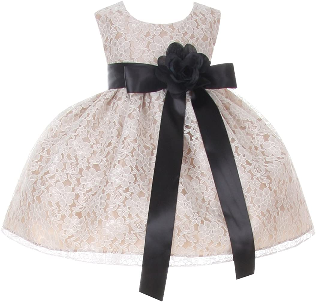 Cinderella Be super welcome Couture Baby Girls' Champagne Dress Girl Lace Flower Max 45% OFF