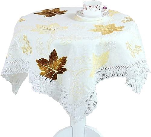 Tablecloth Pastoralen Stil Quadrat Tischdecke Hause Kaffee Tischdecke Kühlschrank Mikrowelle Abdeckung Handtuch Tischdecke Schlafzimmer Bett Kopftuch (Farbe   Gelb, Größe   120  170cm)