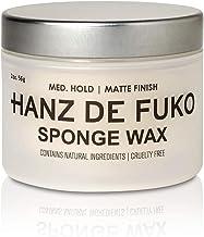 Hanz de Fuko Sponge-Wax: Premium Men's Hair Styling Wax with Semi-Matte Finish (2oz)