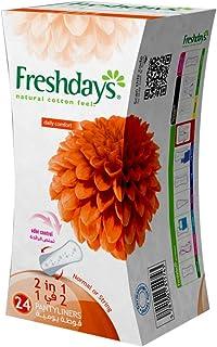 Sanita Freshdays Normal 2 in 1 Panty Liners, 24 Counts
