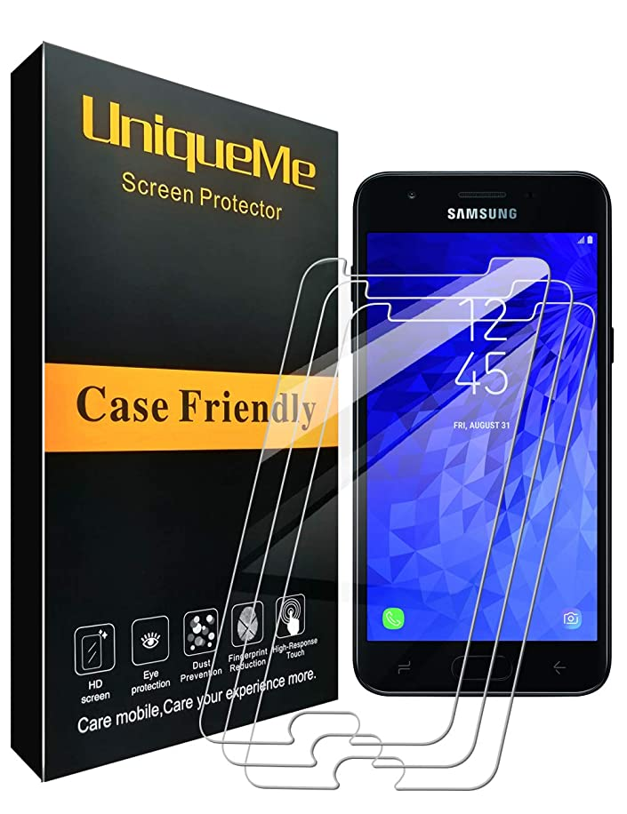 [3 Pack] INGLE Compatible with Samsung Galaxy J7 Refine Screen Protector,9H Hardness Bubble Free Tempered Glass with Lifetime Replacement Warranty