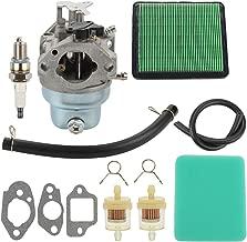 Venseri GCV160 Carburetor + Air Pre Filter Gaskets Spark Plug for Honda GCV160A GCV160LA GCV160LAO GCV160LE Engine HRB216 HRR216 HRS216 HRT216 HRZ216 Lawn Mower 16100-Z0L-023