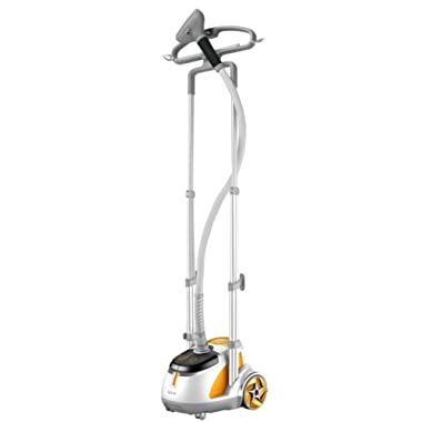SALAV Orange Professional Series Dual Bar Garment Steamer with Foot Pedals, GS45-DJ
