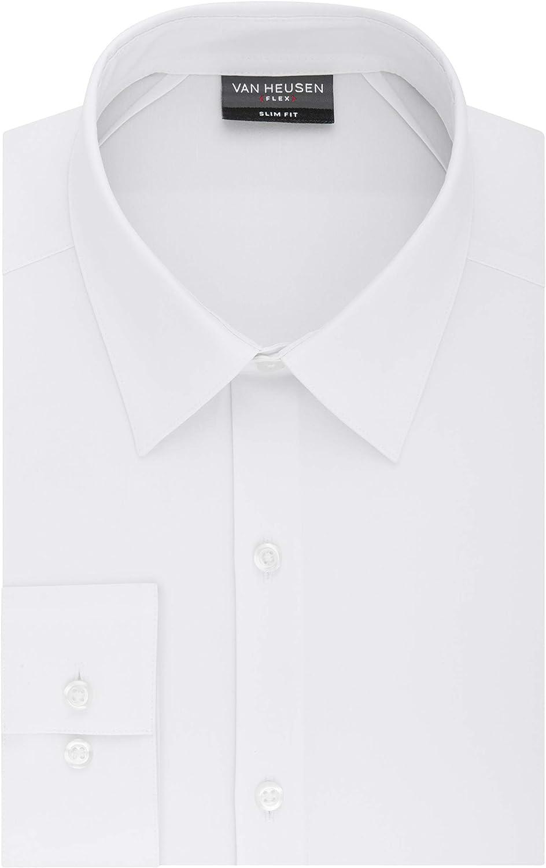 Van Heusen Men's Dress Shirt Slim Fit Flex 3