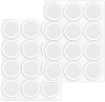 Navaris Clear Bumper Pads 22mm - Pack of 24 Self-Adhesive Soft Protective Feet Stoppers for Furniture, Cabinet Doors, Cupboards, Drawers, Wall, Glass
