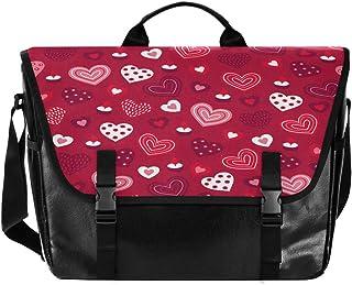 Love Pink White - Bolso de lona para hombre y mujer, diseño retro