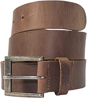 Men's Rustic Thick Leather Belt Handmade by Hide & Drink Includes 101 Year Warranty :: Bourbon Brown