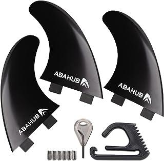 Abahub Tri FCS/Future Fins Set, G5 Surfboard Fin, 3 Thruster Fins for Surf Boards, Surfing Longboard, Shortboard, Fibergla...
