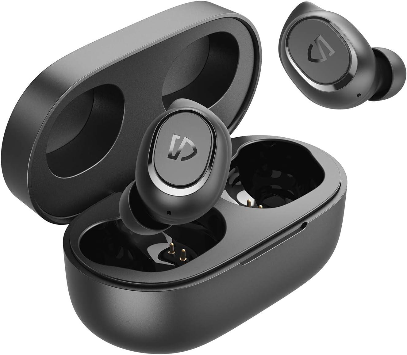 SoundPEATS Wireless Earbuds TrueFree2 Bluetooth 5.0 Headphones in-Ear Stereo TWS Sports Earbuds, IPX7 Waterproof, Customized Ear Fins, USB-C Charge, Monaural/Binaural Calls, 20 Hours Playtime