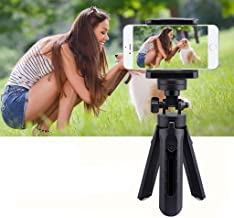 Cell Phone Tripod,mini Compact Tabletop Tripods Travel Portable With Phone Holder Adjustable-black Height:28cm(11in)
