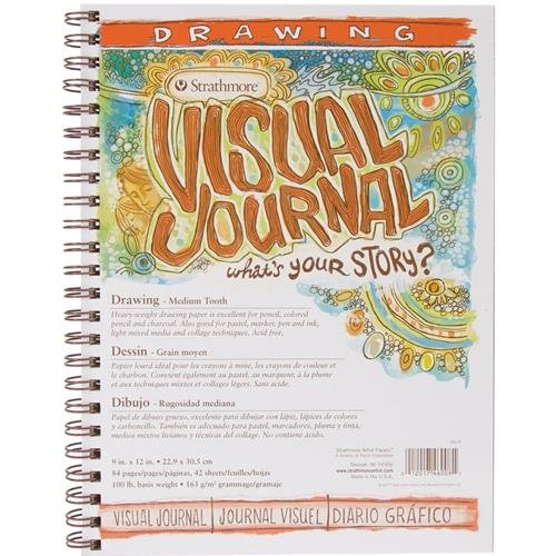 Strathmore 400 Series Visual Drawing Journal, 9'x12' Medium Surface, Wire Bound, 42 Sheets