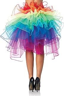 BESTOYARD Women Layered Rainbow Tutu Skirt Dance Ruffle Skirt Mini Bubble Skirt Petticoat free size