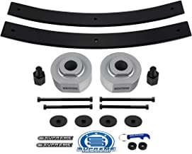 Supreme Suspensions - 2 Inch Front Lift + Rear Add-A-Leaf Pack for 1981-1996 Ford F150 [4WD] Silver Billet Aluminum Spacers and Carbon Steel Short Leafs [Includes 5/8