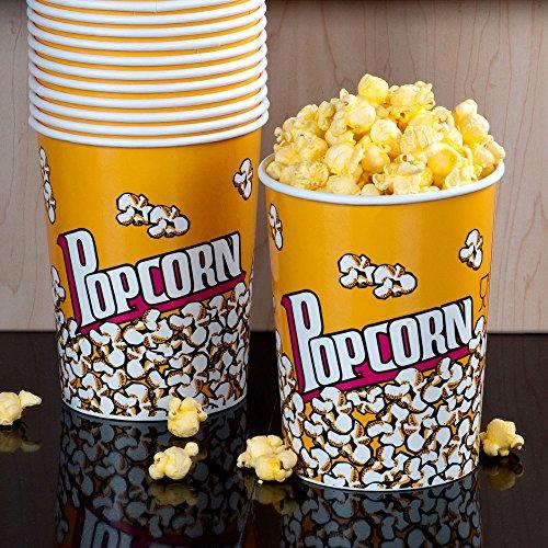 Juego de dos grandes palomitas cine estilo vasos de papel