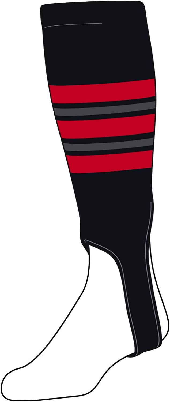 famous TCK Baseball Stirrups Large 300F Black Grey Red 5in San Diego Mall