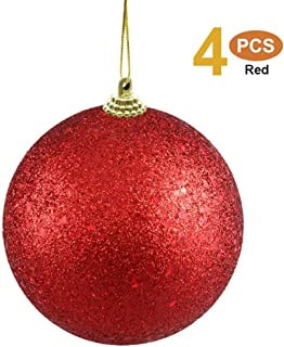 kmkaren Christmas Ball Ornaments 3.15in Correct Size Small Shatterproof Christmas Decorations Tree Balls for Holiday Wedding Party Decoration, Tree Ornaments Hooks Included