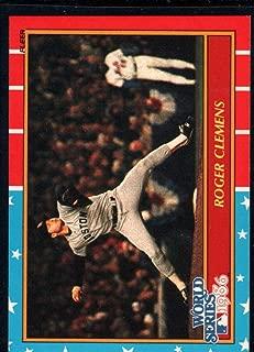 Baseball MLB 1987 Fleer World Series #3 Roger Clemens Red Sox