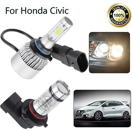 innova3.com 9005+9006 LED Headlights Bulb Kit for Honda Civic 2004 ...