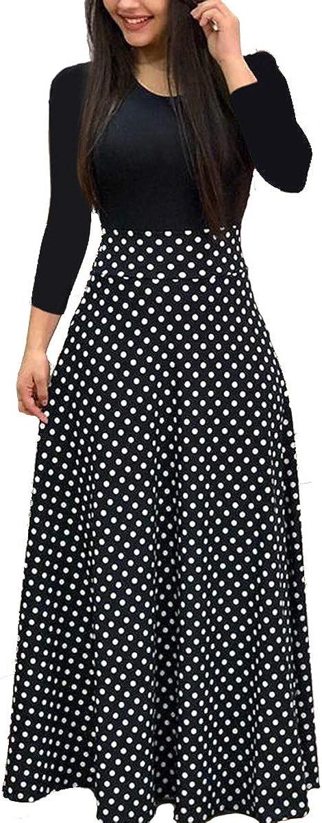 Maxi Dresses for Women Floral Printed Maxi Dress Casual Swing Long Maxi Dresses