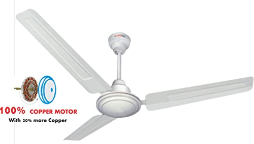 Longway Nexa Delux 1200 mm High Speed 100 Copper Ceiling Fan 400 RPM 3 Years Warranty White Pack of 1