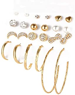 Jewels Galaxy Jewellery For Women Gold Plated Earrings Combo