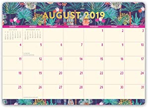 Orange Circle Studio 2020 Decorative Desk Blotter Calendar, August 2019 - December 2020, Botanicals
