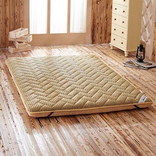 De estilo japonés suave plegable Colchón, hipoalergénico japonesas de estilo futón cama tatami estera del piso del Estudiante compartida Habitación Sala colchón, (gris) Múltiples tamaños disponibles