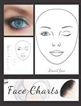 Blank Makeup Round Face Charts Paper Sheets Logbook to Record Different Techniques & Client's Looks: Accessory Workbook for Practice & Visual ... & Glamour for Young & Mature Woman and Girls)