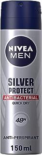 NIVEA MEN Silver Protect, Antiperspirant for Men, Antibacterial Protection, Spray 150ml