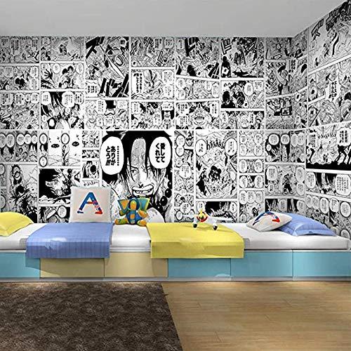 Carta Da Parati Manga Anime Giapponesi One Piece Tessuto Non Tessuto Carta Da Parati Murale TV Camera Da Letto Soggiorno Pittura Moderna Camera Da Letto Per Bambini Murale Da Parete