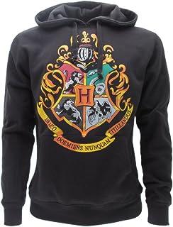 Harry Potter - Warner Bros, Harry Potter Sudadera con Capucha Hoodie Simbolo de Colegio DE Hogwarts Simbolo 4 Casas - 100% Oficial Warner Bros (S Small)