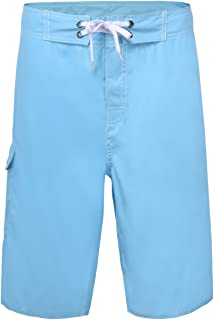 Nonwe Men's Beach Shorts Soft Quick Dry Soild Lightweight Blue 34