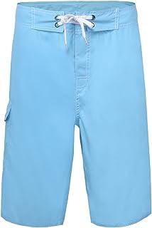 Nonwe Men's Beach Shorts Soft Quick Dry Soild Lightweight Blue 38