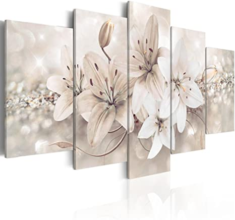 Abstract Wall Art Flowers Canvas Pictures Contemporary Minimalism Abstract Blooms Canvas Artwork for Bedroom Bathroom Living Room Office Wall Decor Framed Ready to Hang 30cm x 40cm x 3 Pieces