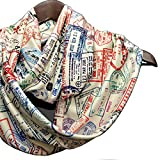Universal Zone Traveler Scarf, Infinity Scarf with Passport Stamps, Flight Attendant Gift, Travel Agent Gift