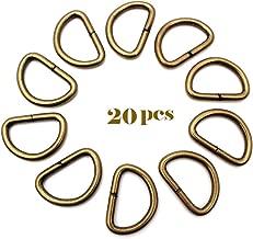 RUBY-20 Anillas en Forma D para Asas de Bolso Hebilla para Correas de Bolso Inte.20mm (Bronce)