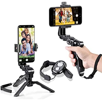 Zeadio Bluetooth Mini Smartphone Tripod Grip Stabilizer, soporte ...