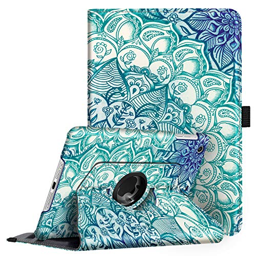 Fintie Rotating Case for iPad Mini 3/2 / 1-360 Degree Rotating Smart Stand Protective Cover with Auto Sleep/Wake for iPad Mini 1 / iPad Mini 2 / iPad Mini 3, Emerald Illusions