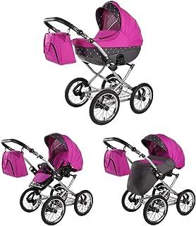 Buggy retro 3 en 1 2 en 1 Isofix Meriva de Lux4Kids Grey Pink 04 Silla de auto 4 en 1 + ISOFIX