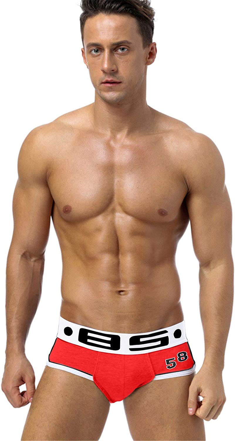 Mens Cotton Boxer Briefs Underwear Comfort Breathable Cool Dri Fit Cotton Stretch Waistband Boxers G-Strings & Thongs