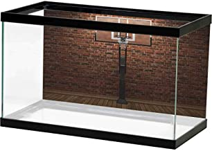 HD Aquarium Background Basketball,Crowded Basketball Arena Just Before Game Starts School Tournament Theme, Beige Nacy Brown Bright Color