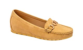 Grinta Front Round Detail Round Toe Slip-on Shoes for Women