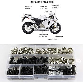 Motobike Fairing Bolt Kit Alloy Body Screw Complete Set For Honda CBR600RR 2006