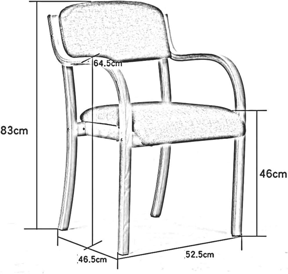 WYYY chaises Bois Massif Chaises De Salle À Manger Les Fauteuils Rembourré Confortable Empilable Chaise De Dossier Cuisine Le Salon Durable fort (Color : T5) T5