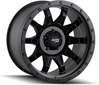DIRTY LIFE ROADKILL (9301) MATTE BLACK/BLACK BEADLOCK: 20x9 Wheel Size; 8-170 Lug Pattern, 130.8mm Bore, 0mm Offset.