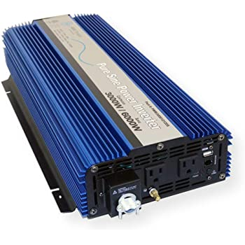 AIMS Power 3000 WATT Pure SINE Power Inverter 12 VDC to 120 VAC - UL Listed