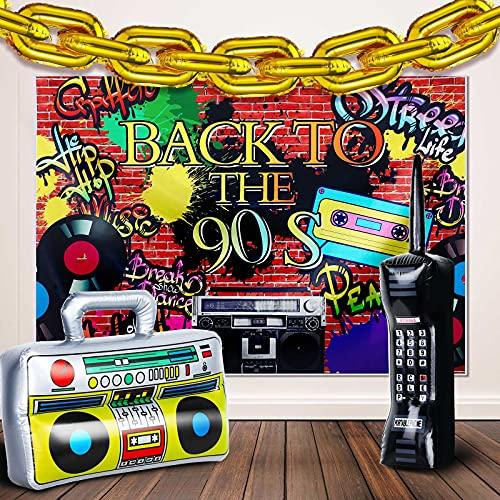 Suministro de Decoración de Fiesta de los Años 80 y 90, Radio de Estéreo Portátil...