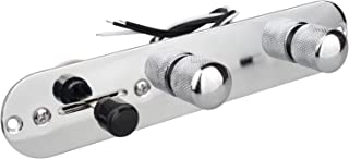 Placa de control Futheda Telecaster con interruptor de 3 vías de metal, precableado cromado, para guitarra Tele, piezas de repuesto