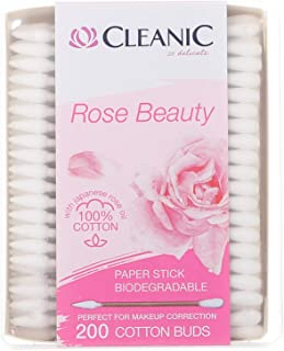 Cleanic Rose Beauty Cotton Care Buds - 200 Pieces